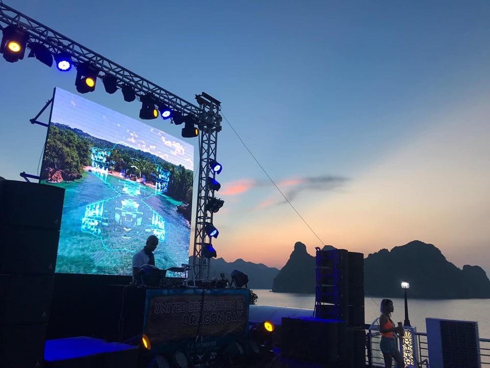 When the lights on!http://oasisbaypartycruise.com#oasisbaypartycruise #halongbay #travel #vietnam #party #dj #musicfestival