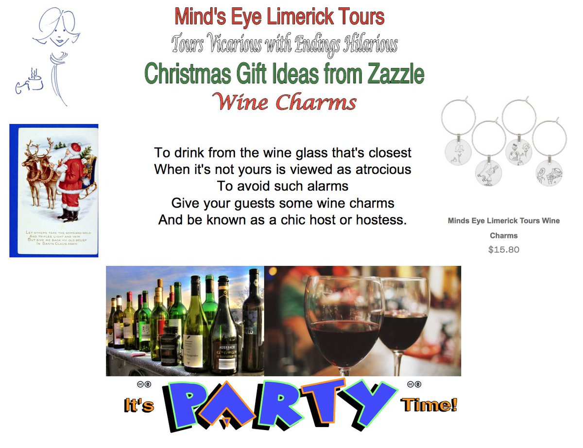 #Limerick #Christmas #charm #fun #store #wine #winelover #party #winecharm  #giftideas #fun #wineglass #hostessgift http://www.zazzle.com/minds_eye_limerick_tours_wine_charms-256479436576516493…n http://mindseyelimericktours.com/?p=1822 http://www.zazzle.com/mindseyelimericktour…