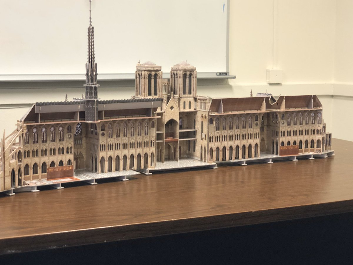 Another built a replica of Notre Dame cathedral and talked about Dechristianization. <br>http://pic.twitter.com/9TWZdADUZQ