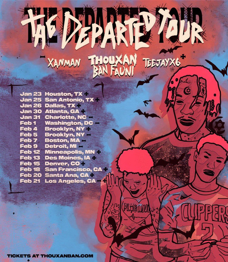 THE DEPARTED TOUR TICKETS ON SALE AT @ THOUXANBAN.COM
