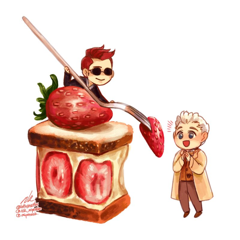 Afternoon tea  #Ineffablehusbands #crowley #Aziraphale #GoodOmens #GoodOmensFanArt<br>http://pic.twitter.com/LnUltJQy7R