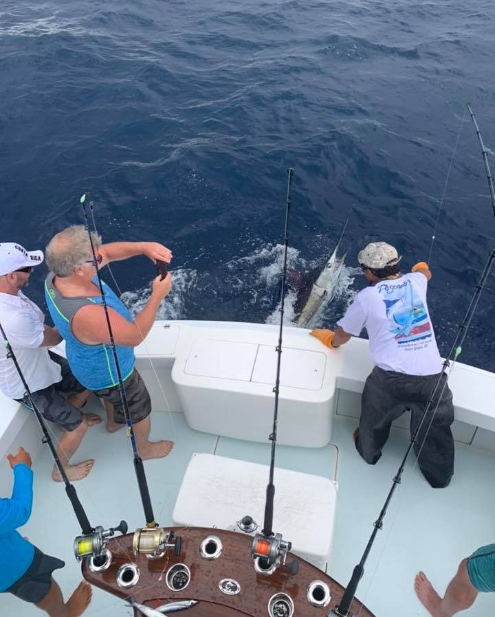Los Suenos, CR - Hoos Your Daddy went 1-2 on Blue Marlin and released a Sailfish.