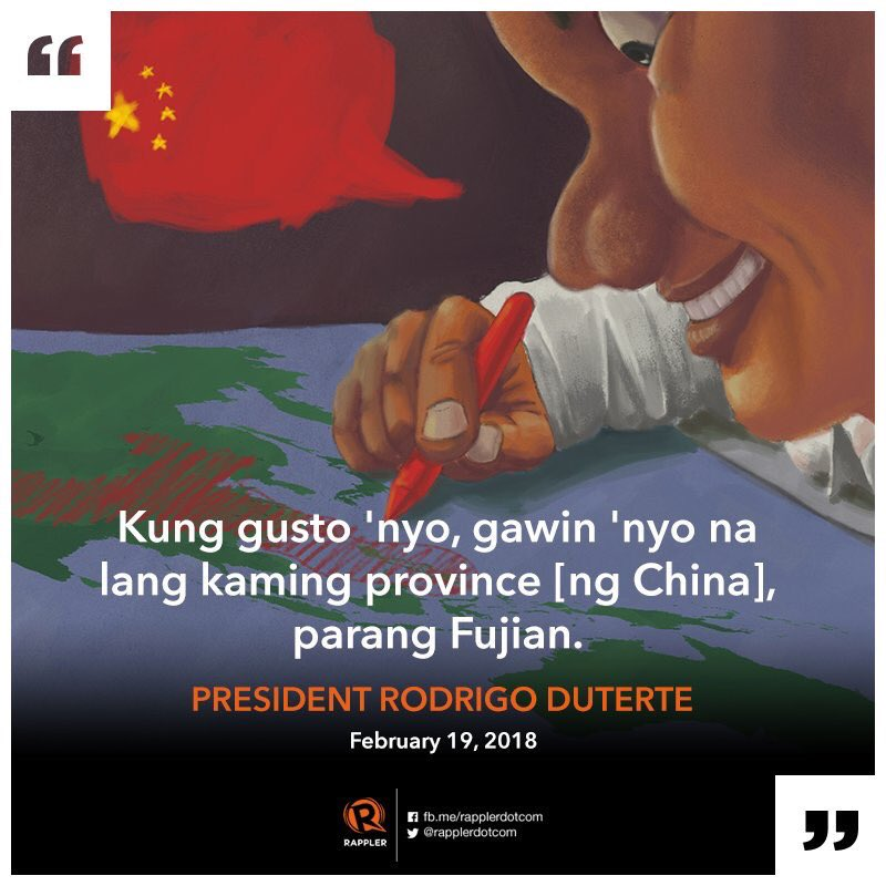 Shitting in public areas in Boracay, splattering taho over a Filipino, kidnapping each other terrifying us, grabbing our territories and even jobs from millions of unemployed, flooding our streets with shabu.   Duterte set up the stage for Chinese impunity disrupting our lives. <br>http://pic.twitter.com/JPmBCnt0u8
