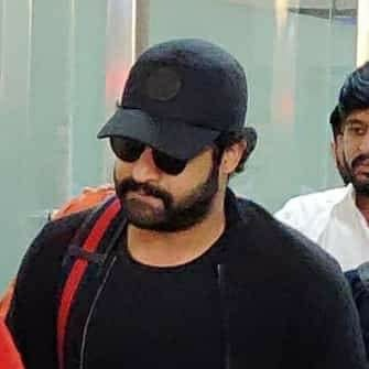 NTR at Vizag airport for RRR shoot