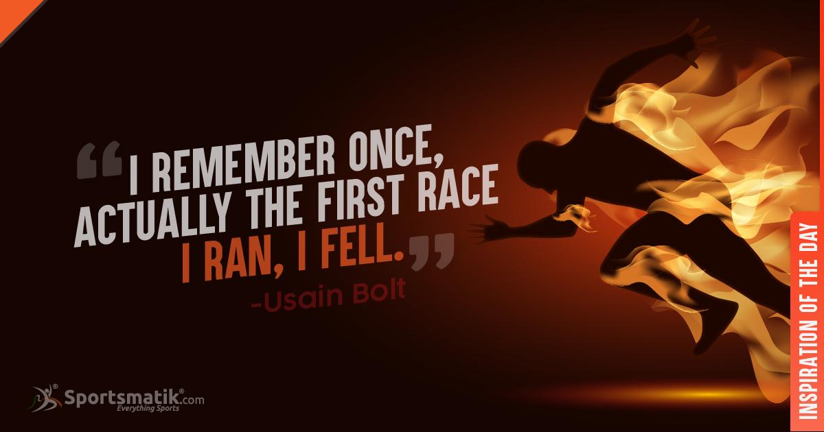 Inspiration of the day - Usain Bolthttps://sportsmatik.com/inspirations#sportsmatik #inspirationoftheday #Sprinter #Athletics #Jamaica