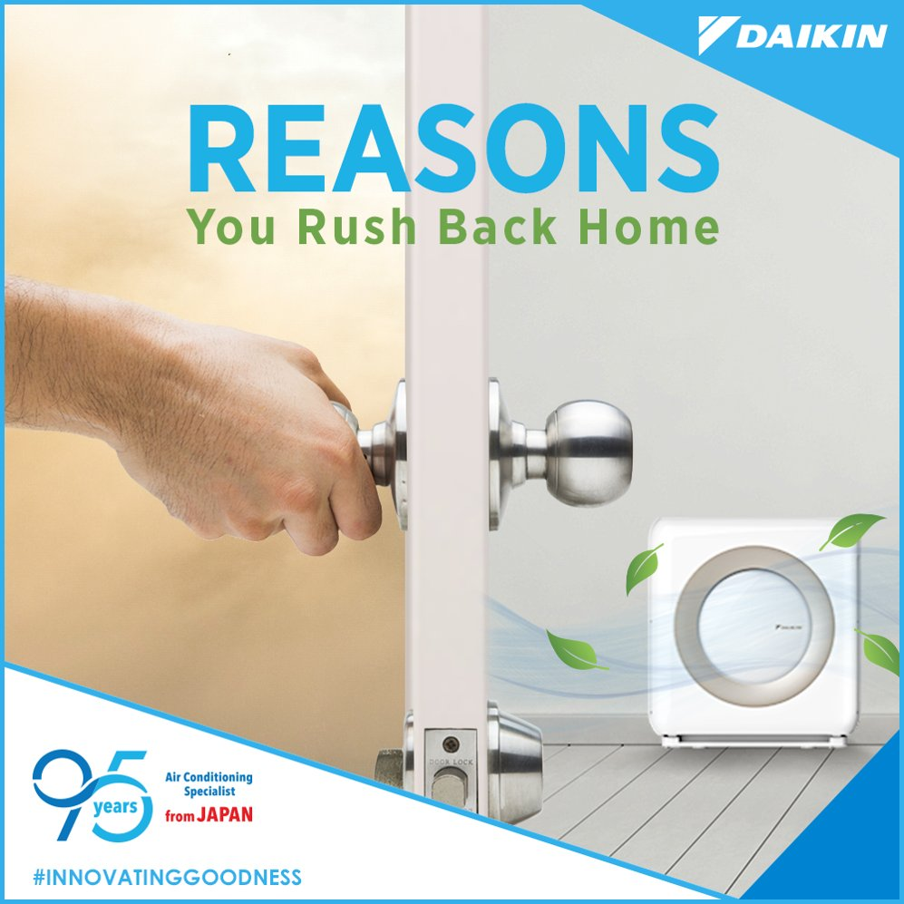 Dont miss the experience of breathing fresh air at home with a Daikin Air Purifier. InnovatingGoodness https t