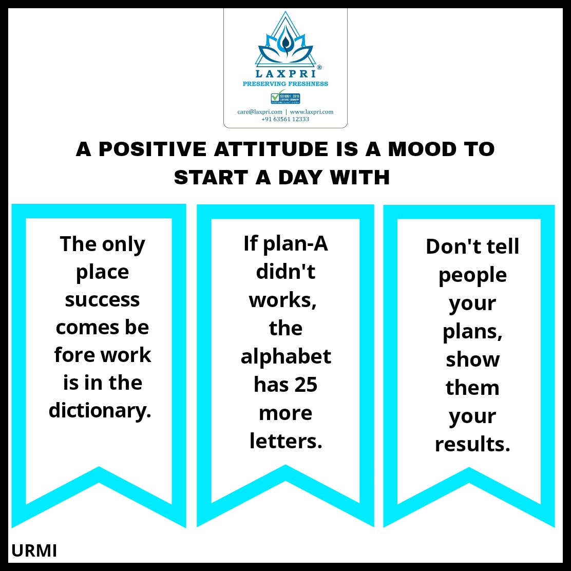 A POSITIVE MIND IS WAY MORE BETTER THEN A NEGATIVE THOUGHT.  #Laxpri  #Laxpripreservingfreshness  #madeinindia #trending #ColdRoom #coldstorage #motivateyourself #MorningWishes #morningquotes #thoughtoftheday #original #wearetheoriginal #TuesdayMotivation  #TuesdayThoughts<br>http://pic.twitter.com/QDJIkXwb5t