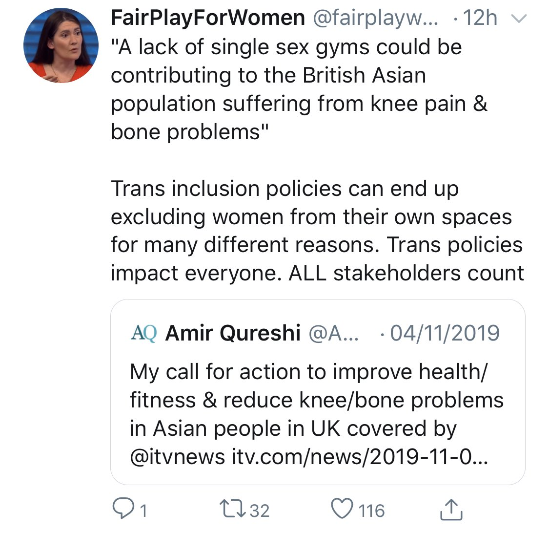 Holy cow! Trans people are now being blamed for the joint pains of the British Asian community!!! 😳🤯 You couldn't make this up!!! How can ANYONE take this tinfoil-hat, obsessively trans-hostile group seriously??? They'll literally weaponise ANYTHING against trans people!