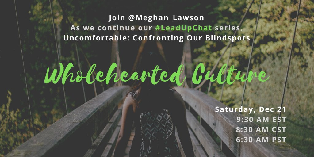 Excited for our #leadupchat this Saturday as @Meghan_Lawson moderates!!