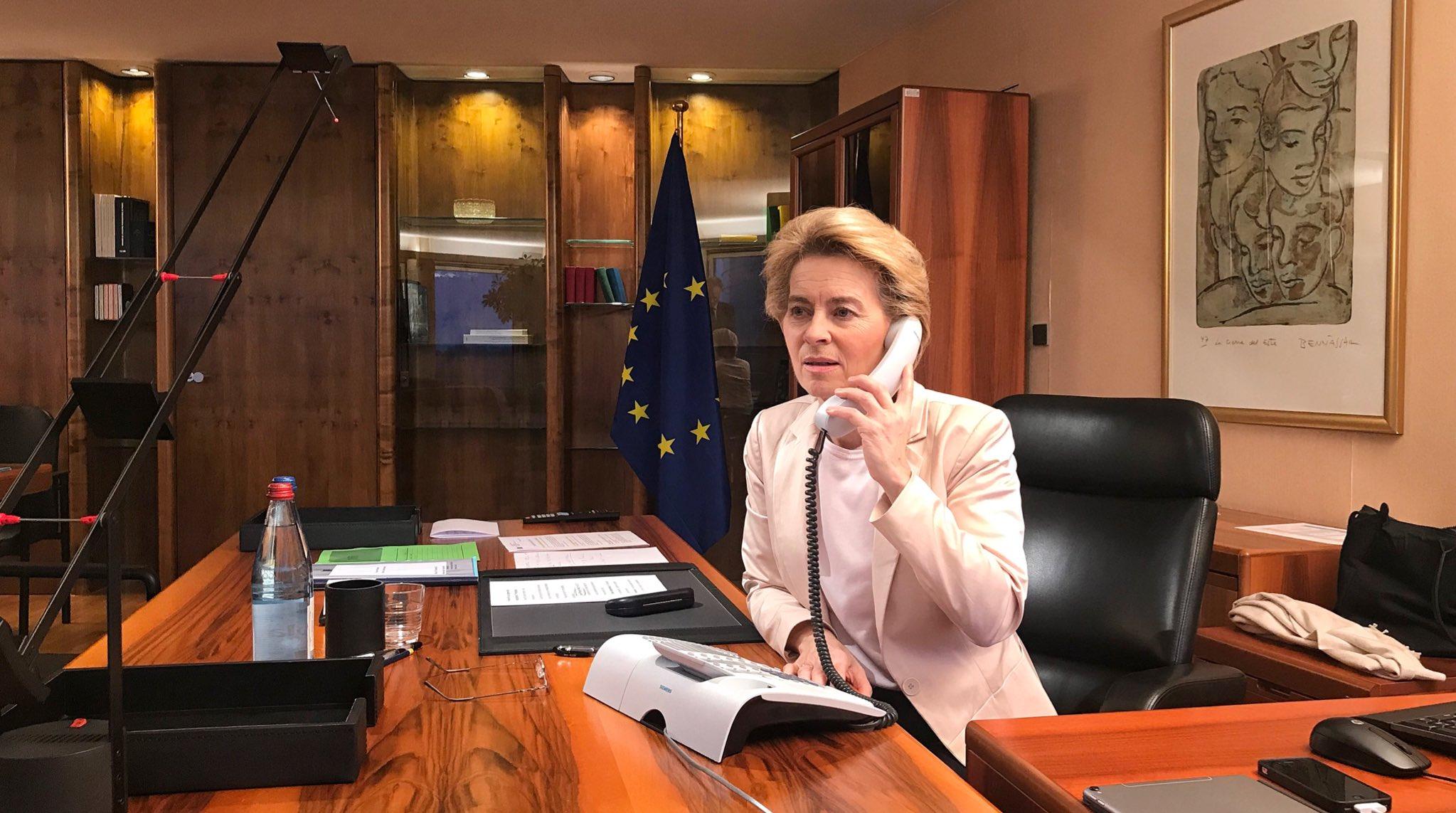 Ursula von der Leyen in her Berlaymont office
