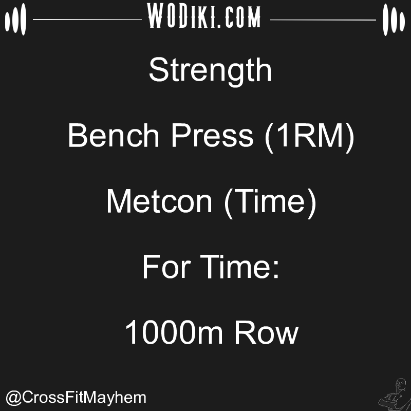 WOD 12.17 by @CrossFitMayhem  You've got to get up every morning with determination if you're going to go to bed with satisfact... #crossfitaddict #row, #burpee