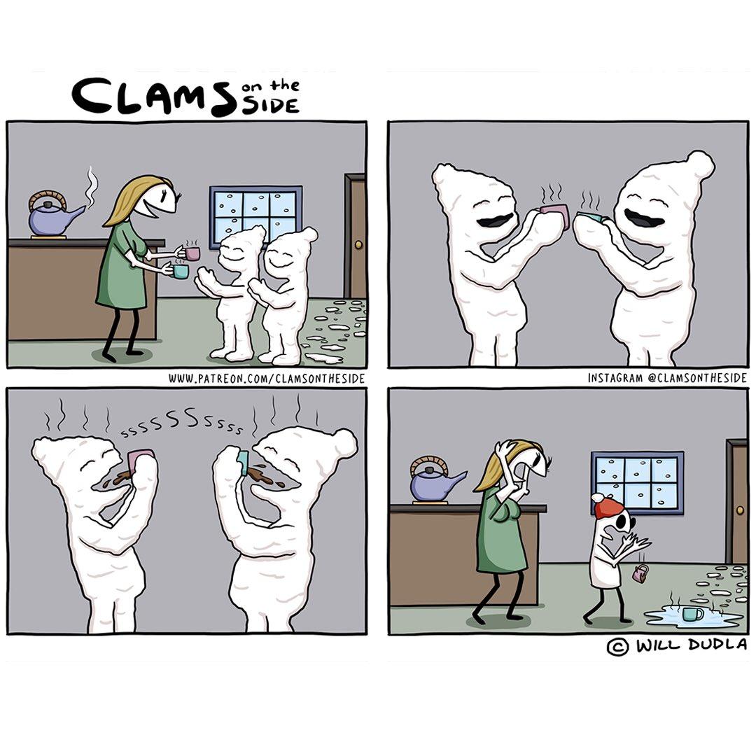Childhood Memories #clamsontheside #comedy #comics #webcomics #comicstrip #snowday #ChildhoodMemories #coveredinsnow https://t.co/DqohyHonNP