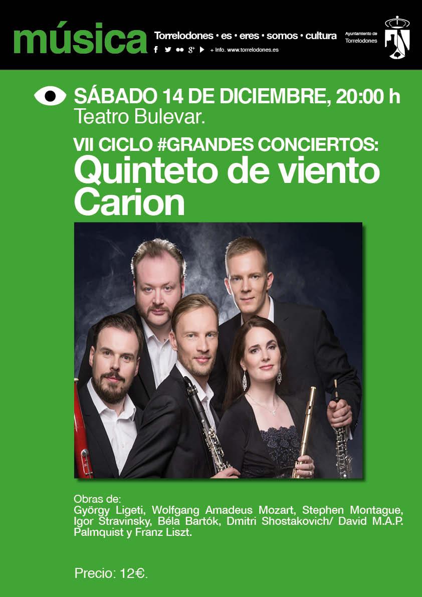 Por primera vez el #CarionWindQuintet visita nuestro país. Los esperamos en #TeatroBulevar de #Torrelodones