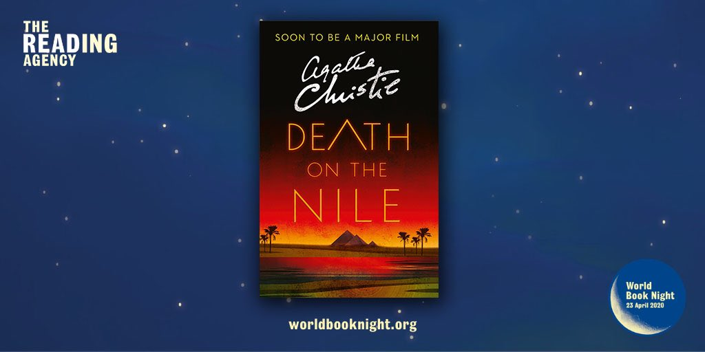 We're delighted to announce that Death on the Nile is on the @WorldBookNight 2020 booklist! We can't wait for readers across the UK to discover this perfect Christie story #WorldBookNight