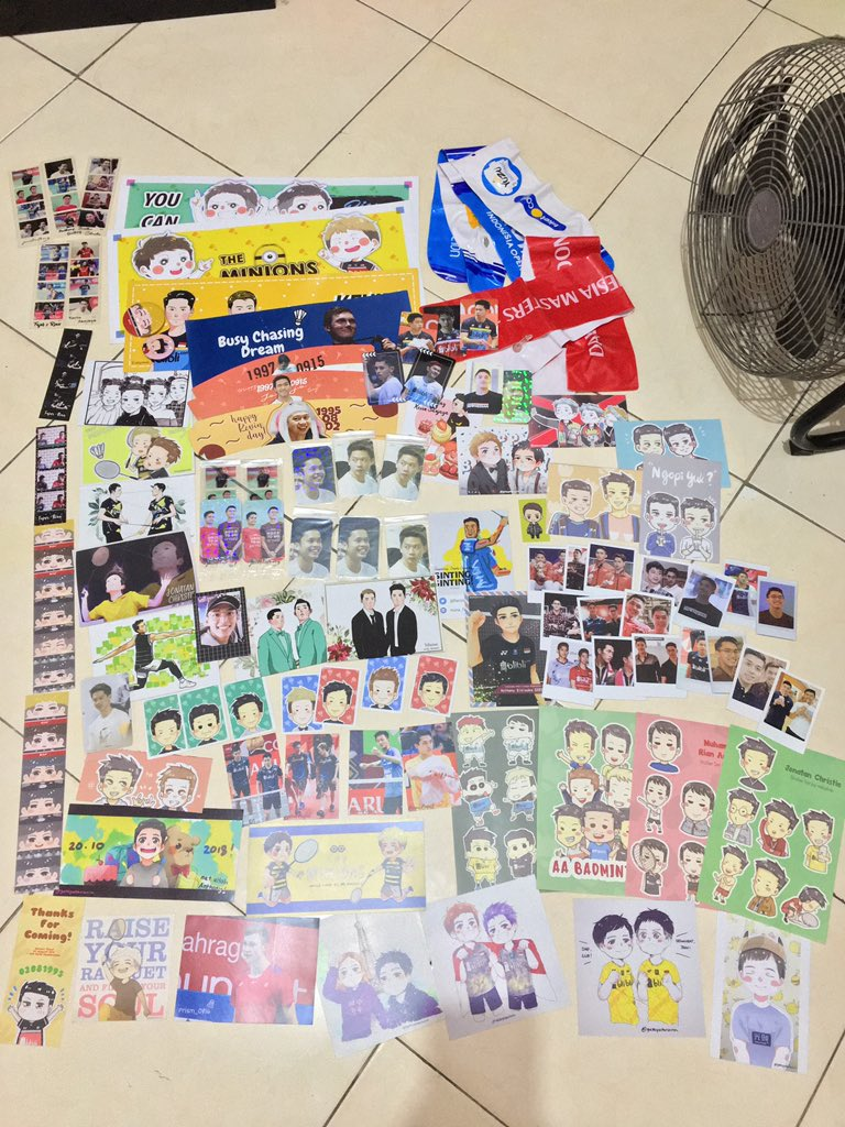 Anybody wants to adopt these all for me? I don't wanna take this any longer. Plz HMU on DM, you just have to pay the shipping cost only. For 1 person only. Thx ^^  #badminton #badmintonlovers #kevinsanjaya #marcusgideon #jonatanchristie #anthonyginting #fajaralfian #rianardiantopic.twitter.com/P47TXIpmPM