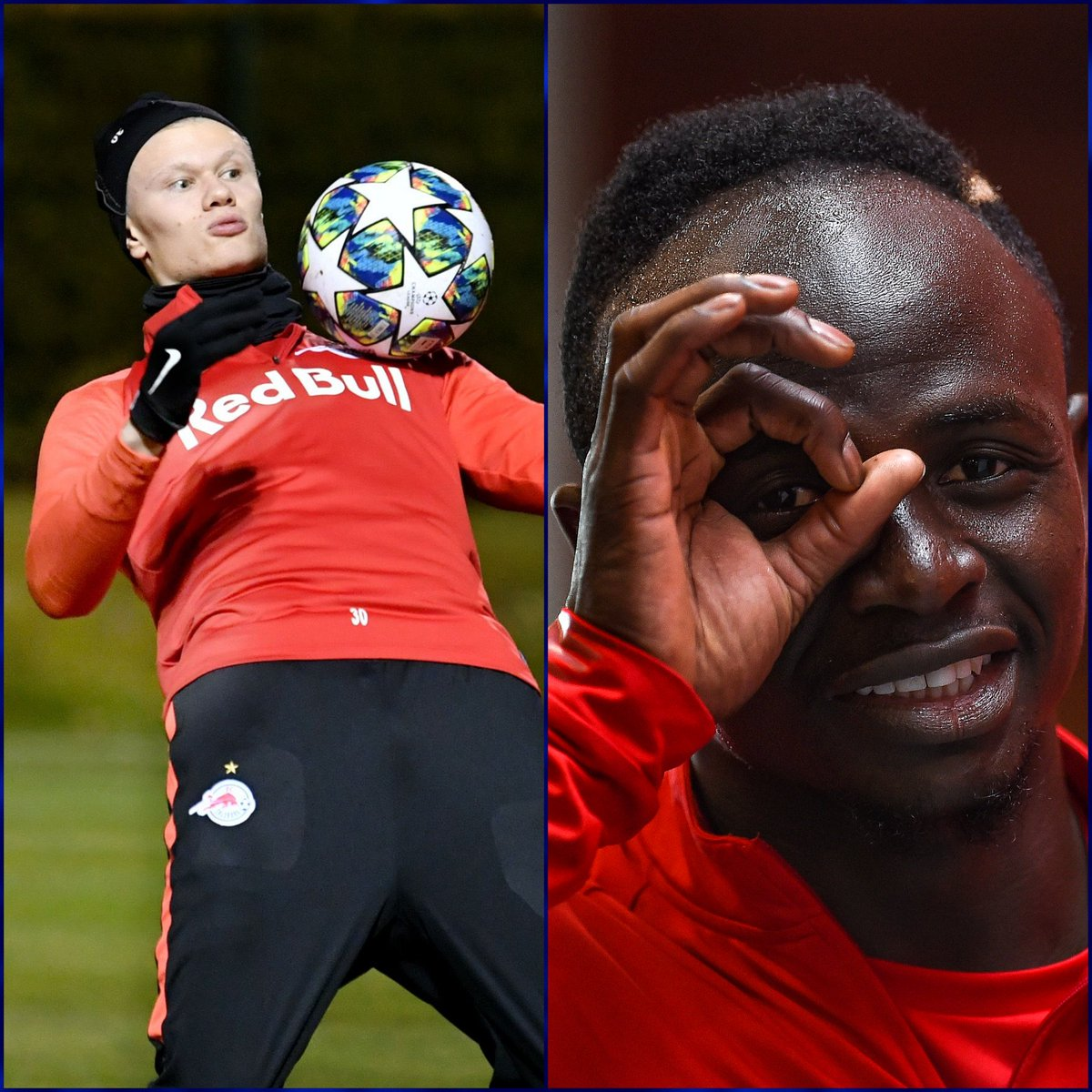 These guys  19/20 | Haaland: 28   Mané: 13   Who is coming out on top in the #UCL tonight? <br>http://pic.twitter.com/2ugMzmT1Sh