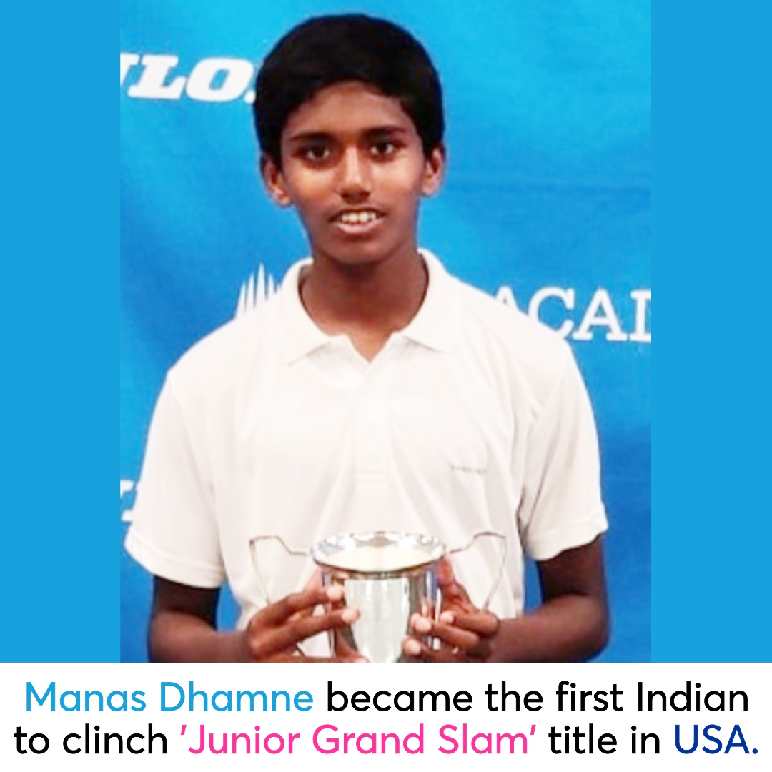 The 11-year-old #ManasDhamne scripted #history for #India by defeating USA's Maxwell with 3-6, 6-0,10-6 at the Under-12 #ITF Eddie Herr International Junior Championship at #IMGAcademy, Florida. Keep it up Manas!