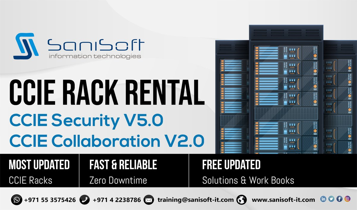 Looking for RACK Rental for your LAB Preparation. Contact us via 97142238786. #ccie #lab #ccielab #networkengineer #it #itengineer #cisco #rackrental #offers #cciesecurity #cciestudy #itnetworking #itsupport #networkengineer #engineer #engineering #engineeringstudents #ciscopic.twitter.com/cSE1vqyoPF