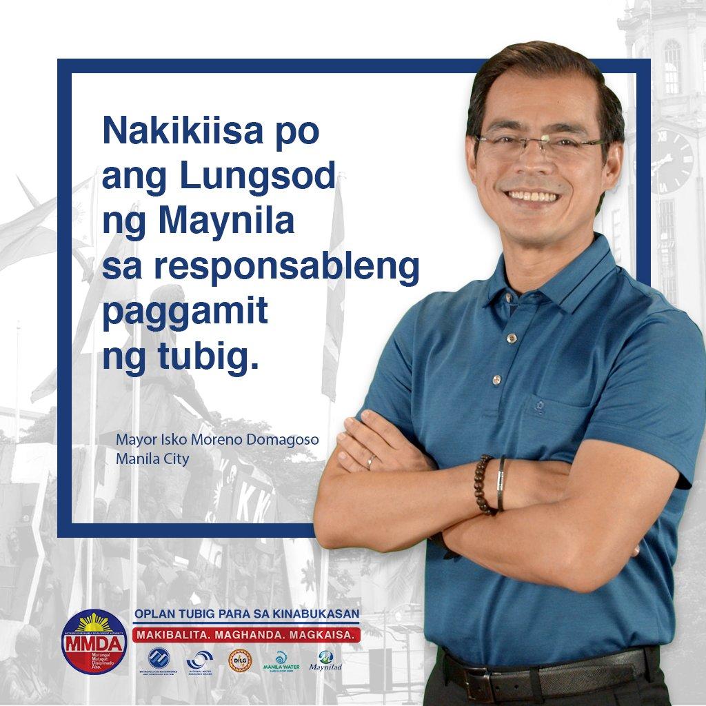 """Sinayang ka man noon, darating din ang forever mo. Parang sa tubig din. Limitado man ang suplay, may mga """"forever kakampi"""" naman tayo para siguruhing sapat ang tubig para sa ating kinabukasan. #OplanTubigParaSaKinabukasan #BagongMaynila"""