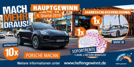 Jetzt ein Gewinnsparlos kaufen und so die Chance auf einen Porsche Macan 😍 und viele andere großartige Geld- und Sachpreise erhalten ➡️https://voba.li/oH5ICj #helfengewinnt #gewinnsparen
