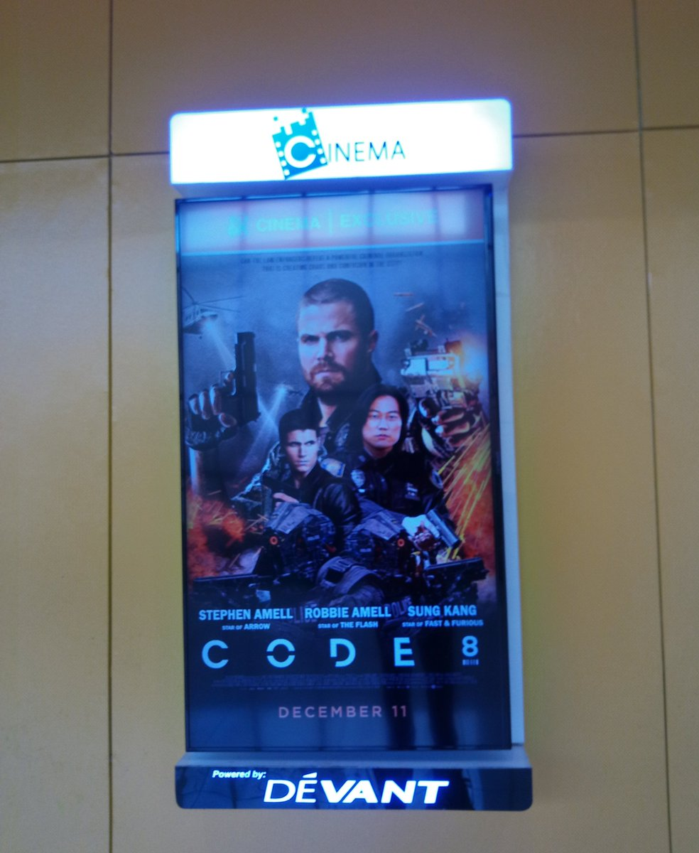 ayyy they have the posters up. gonna see #Code8 tomorrow! @StephenAmell @RobbieAmell