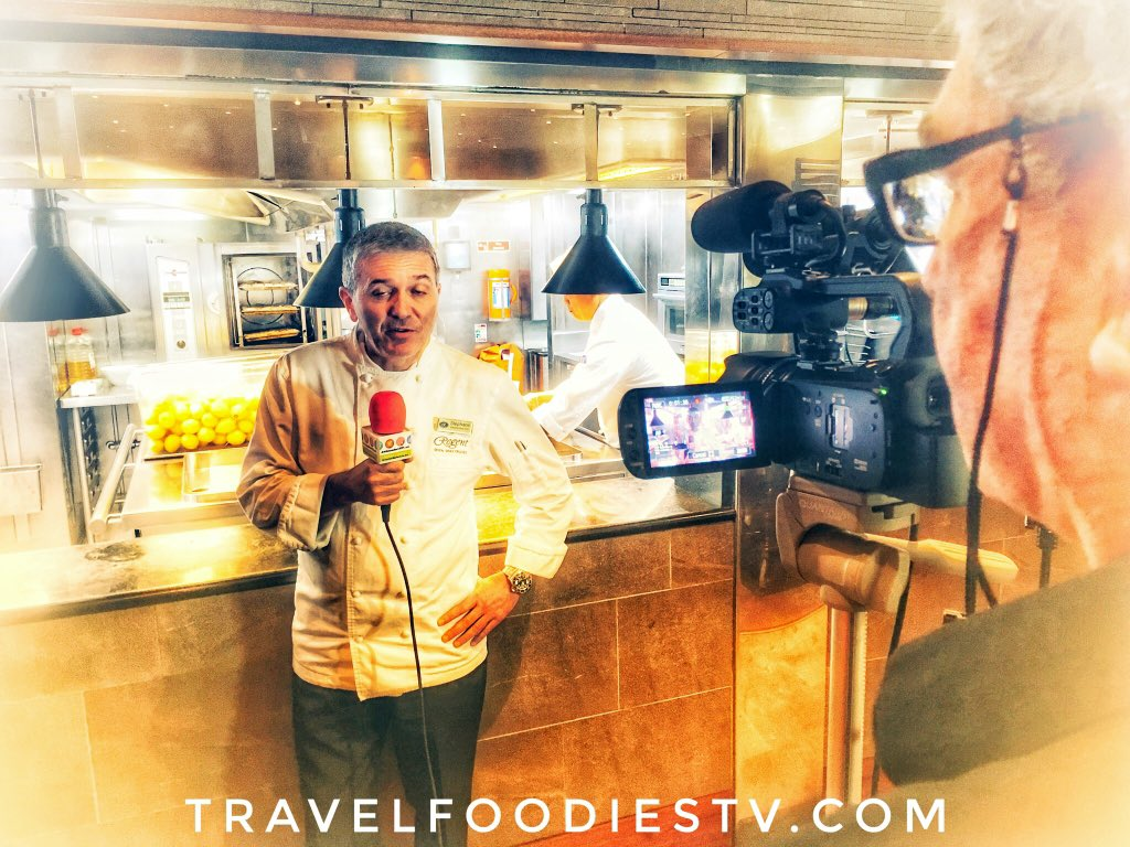 We have loved connecting with magnificent Top #chefs #onboard #Fabulous #cuisine #food #foodlovers #cruise #luxurytravel #luxury #luxuryliving #luxurylifestyle #travel #foodies #TV #travelfoodiesTV #regentcruises #sponsored #traveltuesday