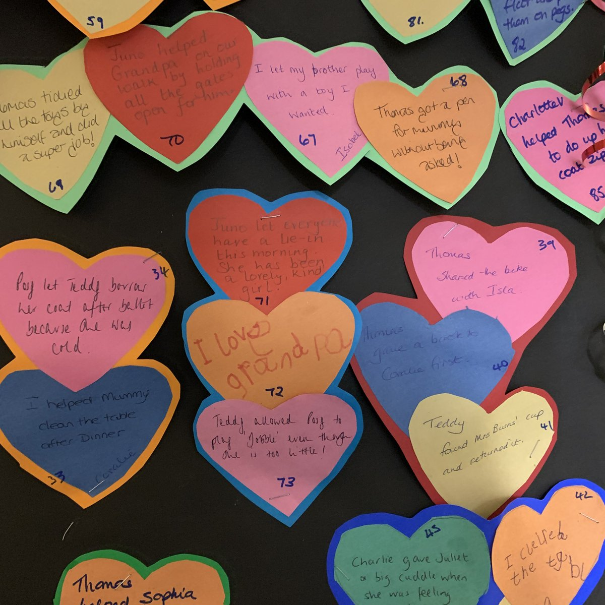 On World Kindness Day in November one of our Reception classes started documenting their 100 Acts of Kindness. There are some really lovely ones - well done everyone! #worldkindessday #BeKind #100actsofkindness #RupertHouse