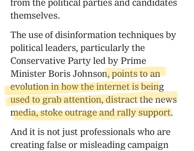 And call me cynical but I don't see the evolution. Evolution as compared to what? The tactics we see in the UK right now are well documented in the past by journalists and academics. The main difference is that a major political party in a democracy has adopted them.