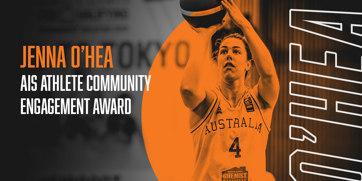Congratulations to Australian Opals Captain Jenna O'Hea, who has just been announced as the AIS Athlete Community Engagement Award recipient for her incredible work with Lifeline and the AIS Lifeline Community Custodians program. 👏🙌   #ASPAs #theAIS #basketball #WeAreBasketball
