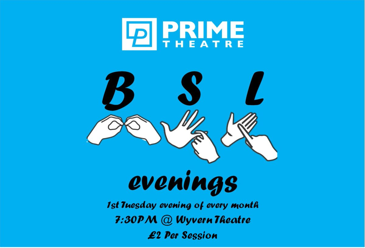 🔥#BSL Evenings @WyvernTheatre! Tonight, ⏰19:30. We look forward to seeing you there🔥