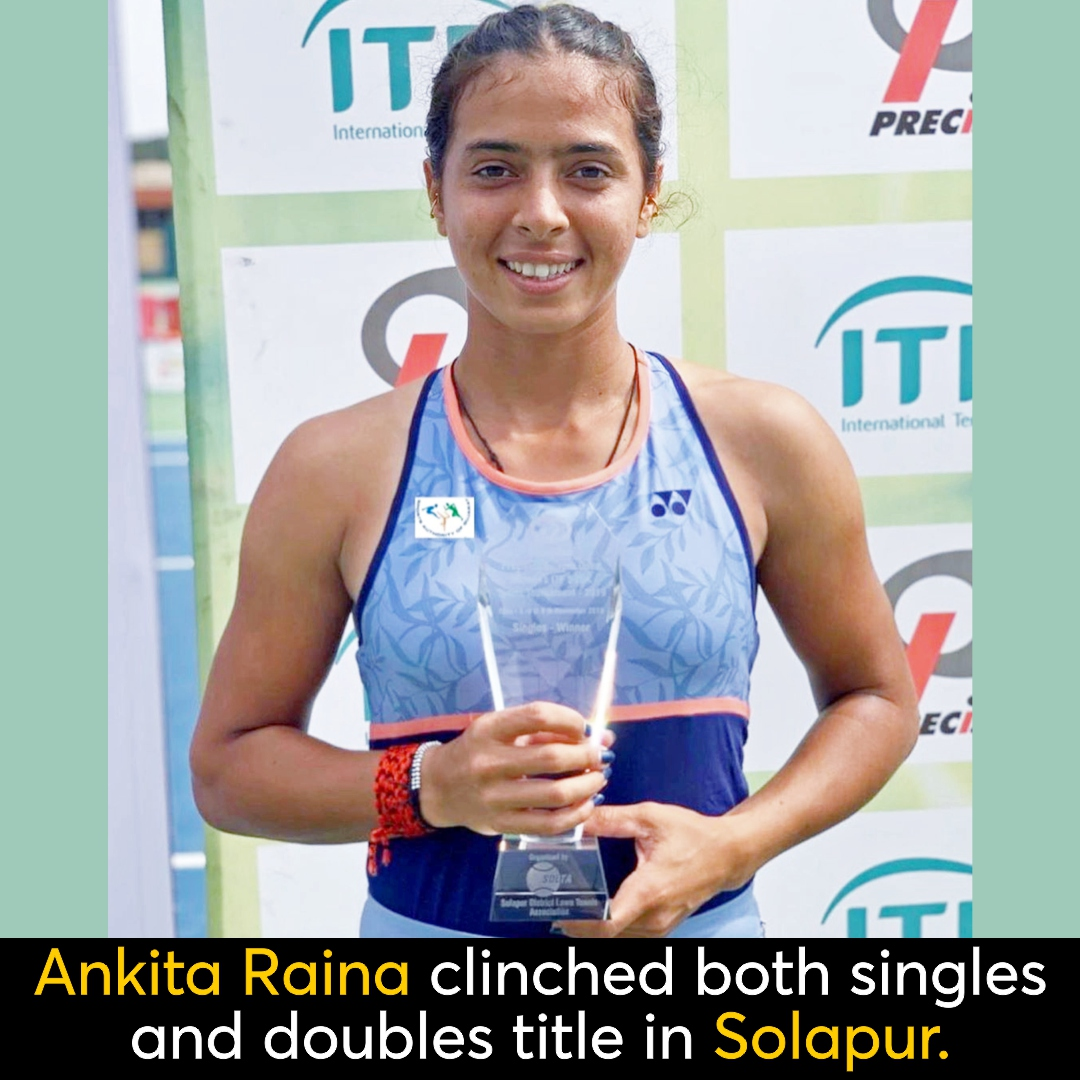 India's no.1 #tennis star #AnkitaRaina bagged both singles and doubles title at the $25K #InternationalTennisFederation, its her second title of this year. Kudos Ankita!https://sportsmatik.com/sports-stars/ankita-raina/MjgzOQ…