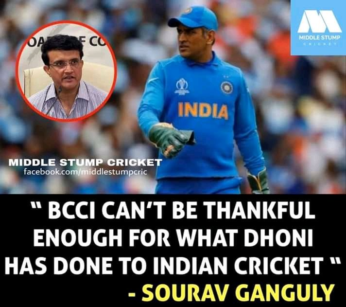 Thanks dada for this words.Powerfull people comes from powerfull place #dada and #MSDhoni proved it #souravganguly  #bengaltiger #captains #thaladhoni #leaders #legendofthegame