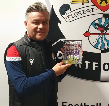 ⚪⚫ COMPETITION ⚪⚫  Win a copy of Football Manager 2020 signed by manager Steve King.  All you need to do is follow us, like and retweet this post.   Competition closes at 5pm on 14th December.   Winner will be announced on 15th December.  #dartsfc #dartfordfc #fm20