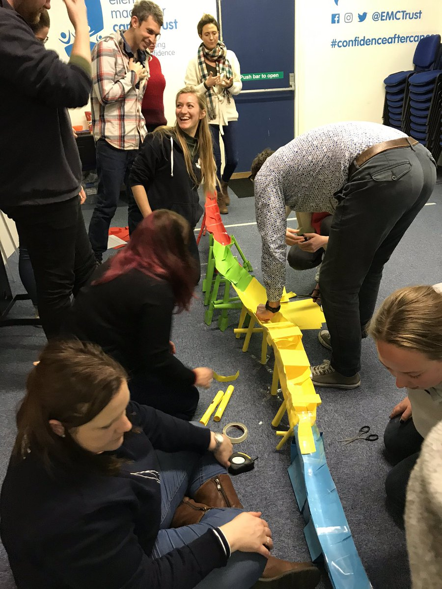 Cowes and Largs are together for a few days feat. some team building from @wearehpd. Don't judge us on our bridge building... #TeamworkMakesTheDreamWork