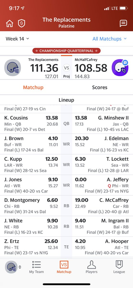 @MatthewBerryTMR needed ertz to put up 23 points and alshon to put up a goose egg #MondayNightMiracle <br>http://pic.twitter.com/am397NFkAK