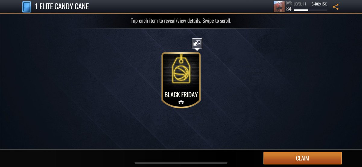 Hey @EASPORTSNBA There is something wrong with this Live Event chain that rewards the Elite Candy Canes. I have played 2 of them and only gotten gold Black Friday tokens. PLEASE FIX THIS #nbalivemobile<br>http://pic.twitter.com/BamA55SiUc