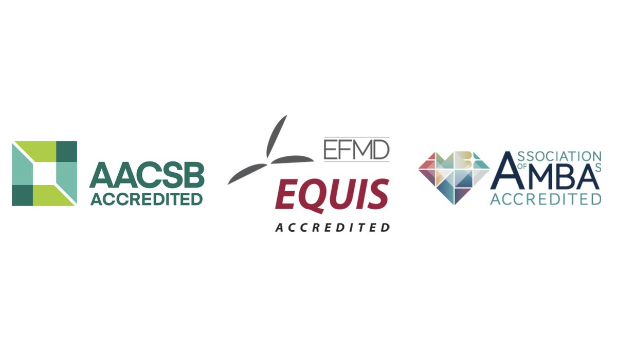 """We are delighted to announce that we have secured the prestigious EQUIS accreditation and join an elite group of universities globally that hold the """"triple crown"""" of accreditations.  Find out what this means for our students, staff, alumni and partners  http://bit.ly/2RzvKP3"""