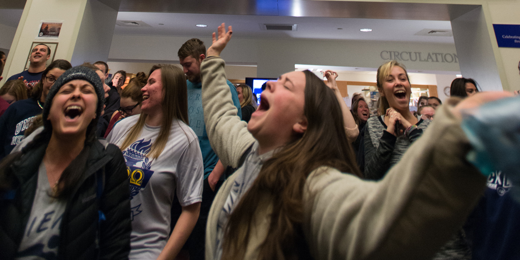 Stressed yet? There's plenty of events today to help with your studying, Wildcats! 💙Today in the @unhlibrary, study buddies all day, healthy study snacks from 11am - 1 pm in the lobby and the primal scream from 8pm - 9 pm. #unhfffMore info ➡️http://unh.me/eFkU50xwktr