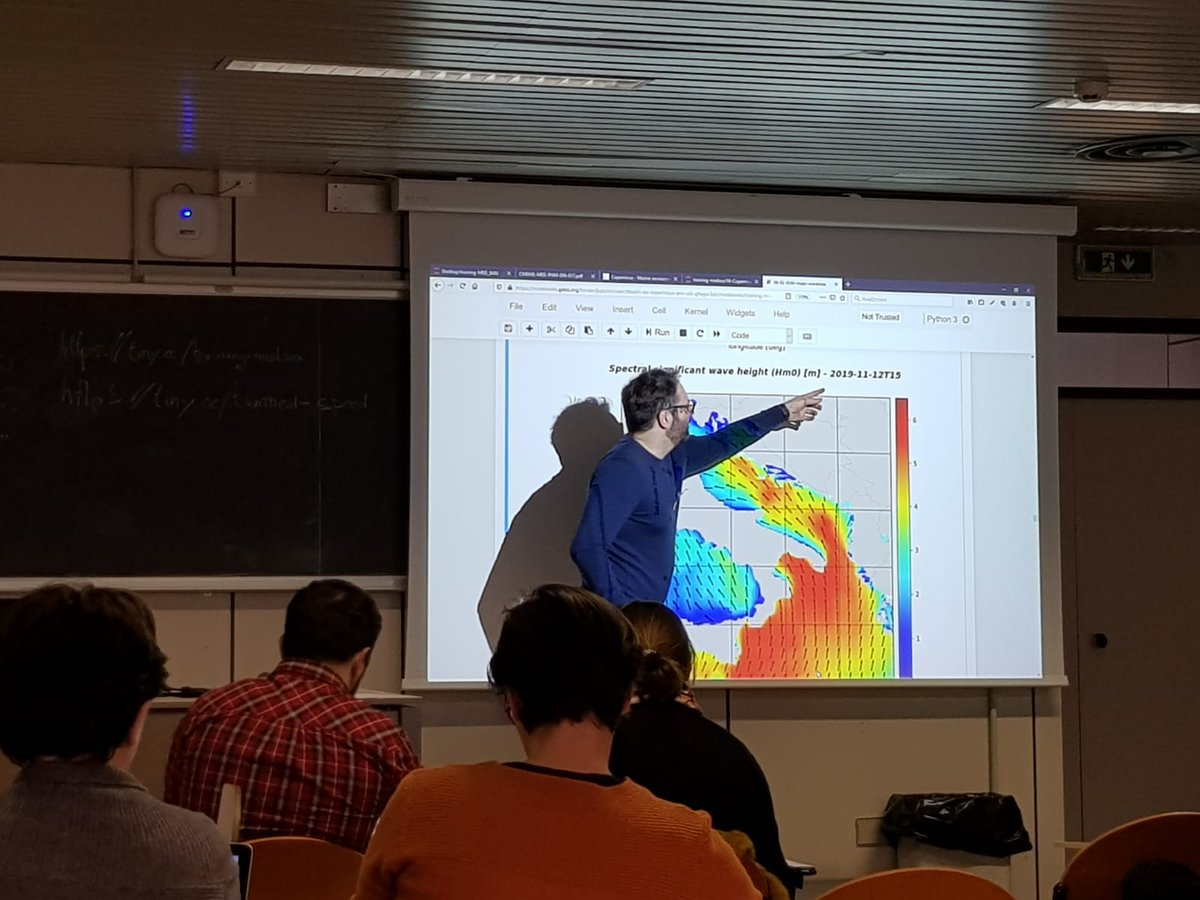 Physical Model #products practical session started with Francesco Palermo @CmccClimate