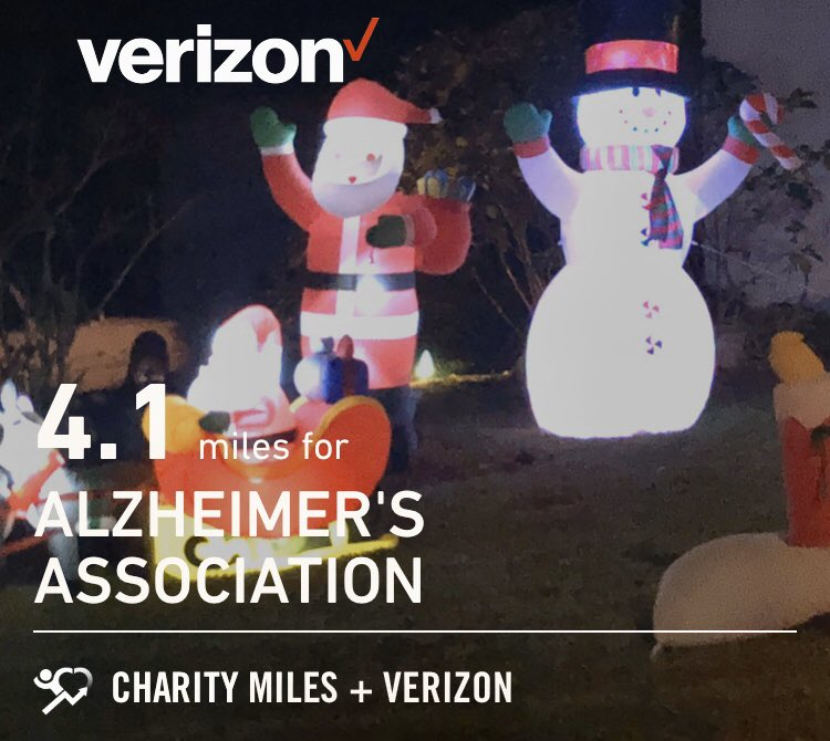 Sporadic is better than none, right? 4 @CharityMiles for @alzassociation, thank you @verizon for sponsoring!