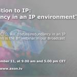 Image for the Tweet beginning: Webinar: IP 101 –Redundancy in