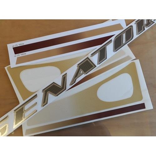 Bailey Senator (Series 6) Front Panel Caravan Stickers. Product Code: CS 1856