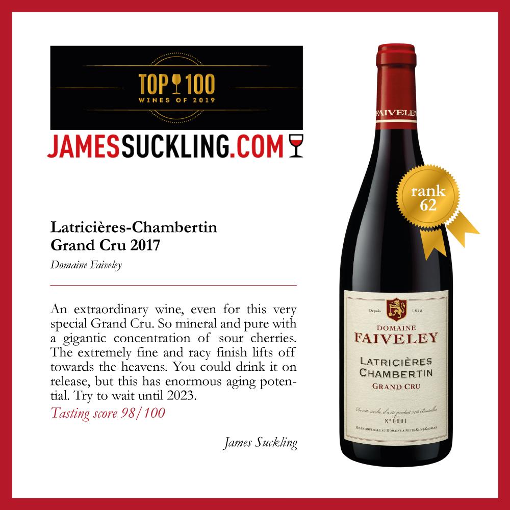 Un autre joli classement pour le @DomaineFaiveley dans le #Top100 de @JamesSuckling   #wine #bourgogne #grandcru   Pour plus d'informations / For further information :  https://www.jamessuckling.com/wine-tasting-reports/top-100-wines-france-2019/…pic.twitter.com/GLzGv3ALfe