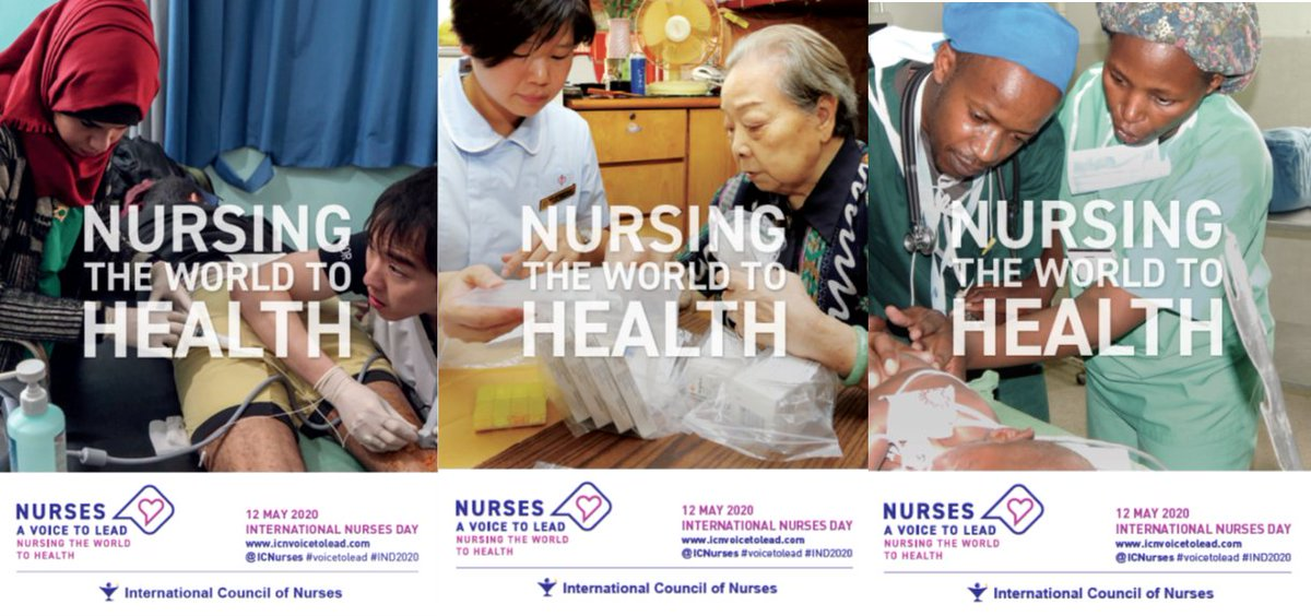Only 5 months left for International Nurses Day 2020 in the context of the Year of the Nurse and Midwife! Not too early to start planning and preparing for it with our posters, now available in 3 versions and 3 languages.  https:// tinyurl.com/y7fj5v3b     #VoiceToLead #IND2020 #Nurses2020 <br>http://pic.twitter.com/vLKbjFWdOW