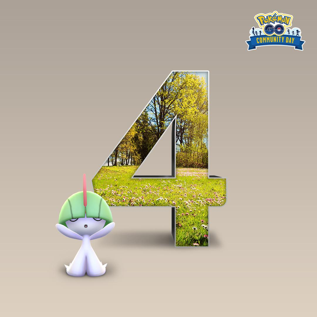 Get ready to feel all the feels as we prepare to welcome back Ralts, the Feeling Pokémon, for #PokemonGOCommunityDay! Four days left. Let's GO!<br>http://pic.twitter.com/fif0a9Ai4H