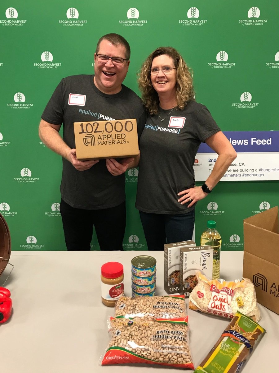 Thank you, @Applied4Tech, for packing 6,000 boxes of food for our community! After 24 years of sponsoring the Helping Hands Day, #AppliedMaterials employees have packed over 102,000 boxes of food! #gratitude #hungerfreecommunity #give #endhunger