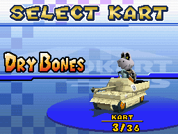 I love how everybody in Mario Kart DS has very appropriate and character themed karts that fit their racer.  And then there's Dry Bones in his damn tank <br>http://pic.twitter.com/cQ40j7ijB9