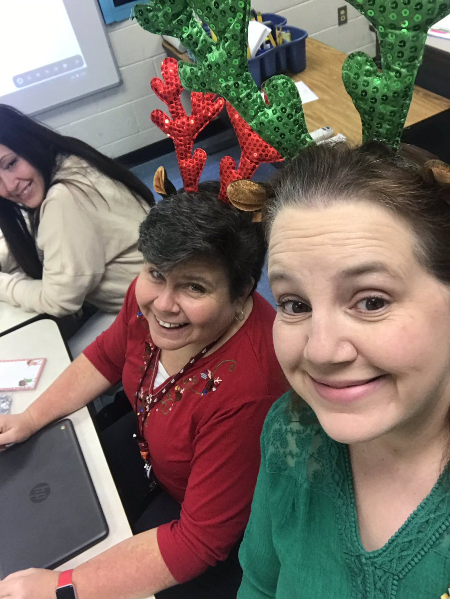 Reindeer fluency games at our coaches meeting today!!