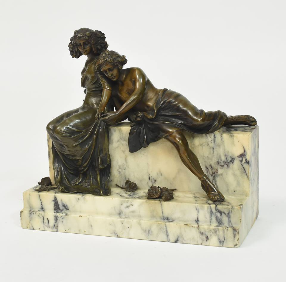 Rare and wonderful antique art  Signed #CarlKauba #Bronze and #MarbleSculpture, The Lovers...  See more https://bit.ly/2WpR48O  #Antique #Art #OnlineAppraisalpic.twitter.com/Trrcb9Hal3