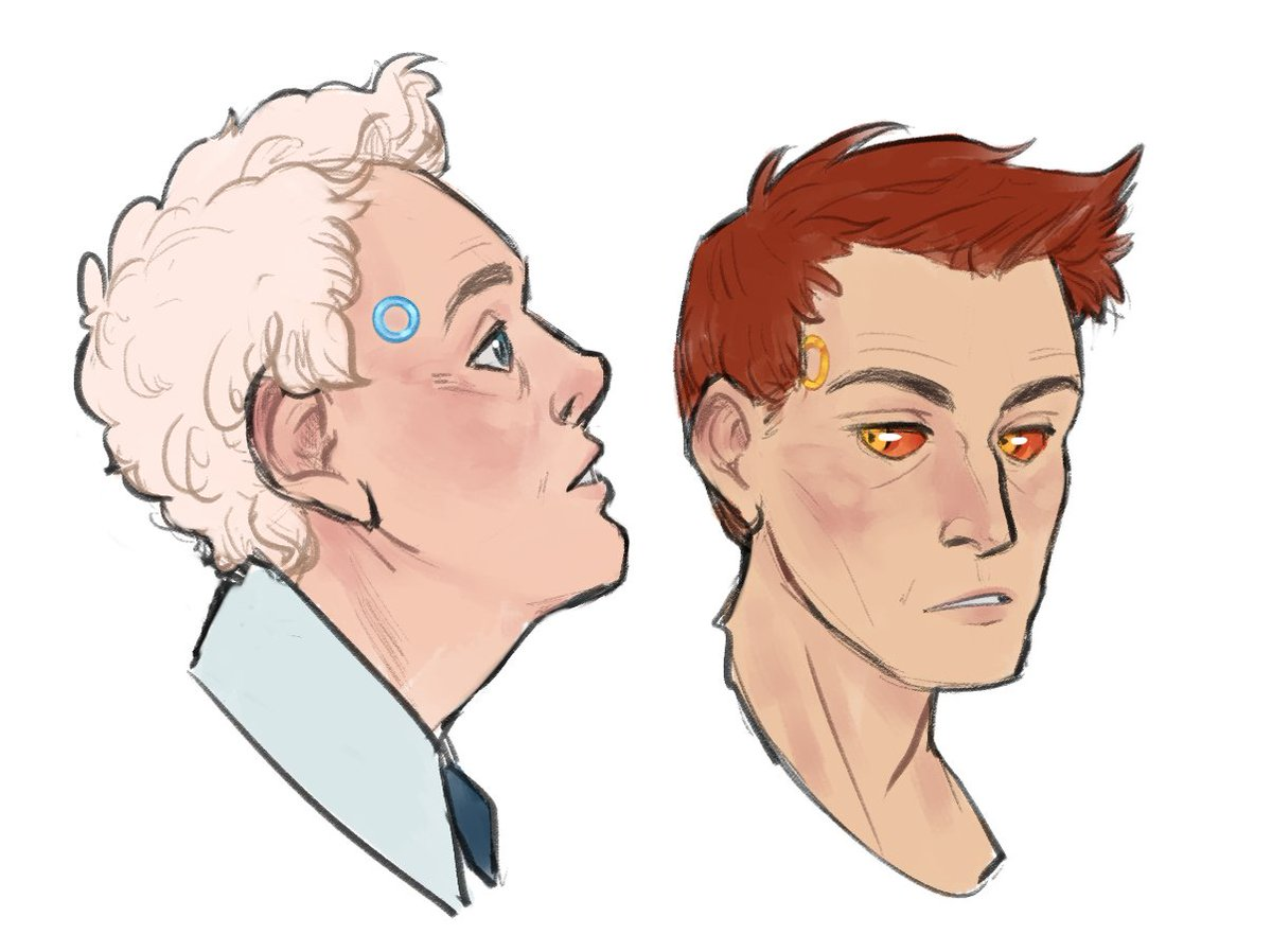 put on some #DetroitBecomeHuman to go to sleep last night and wound up contemplating an AU for #GoodOmens <br>http://pic.twitter.com/Ouj5KnY9sI